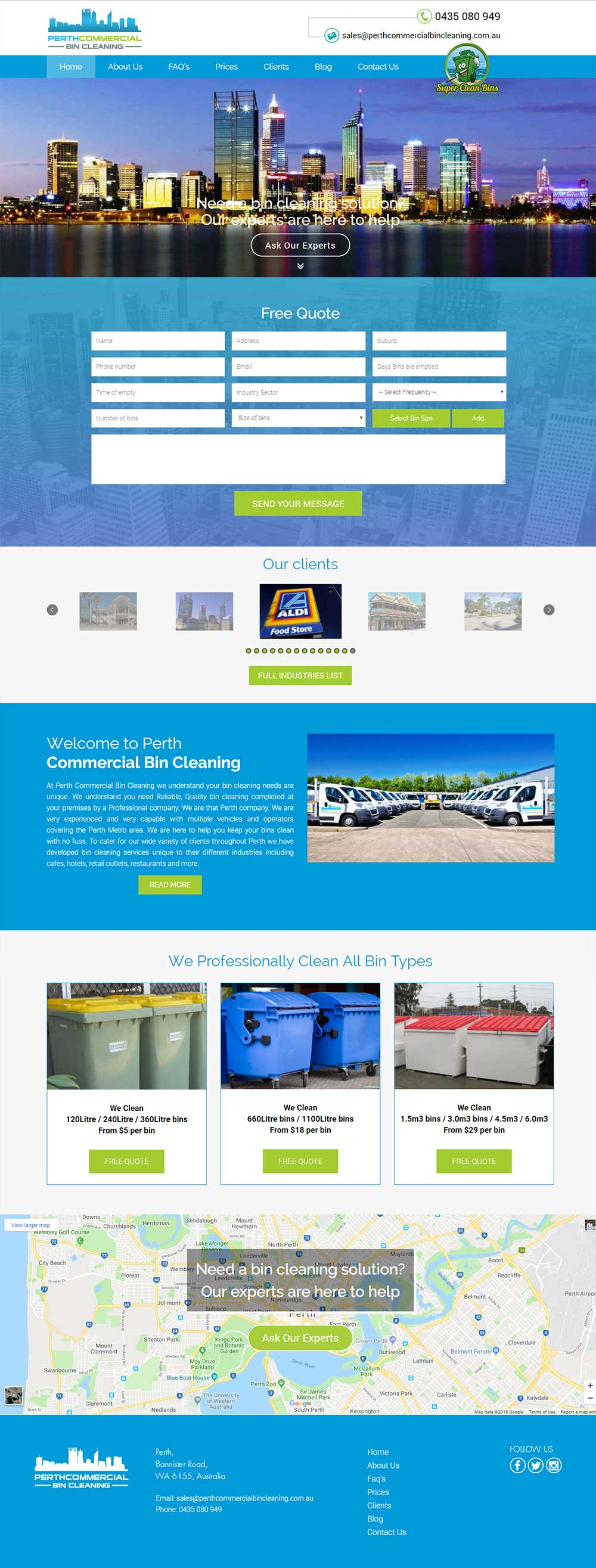Perth Commercial Bin Cleaning